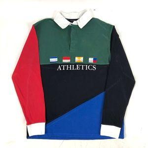 Pacsun Athletics Color Block Flags Polo Shirt